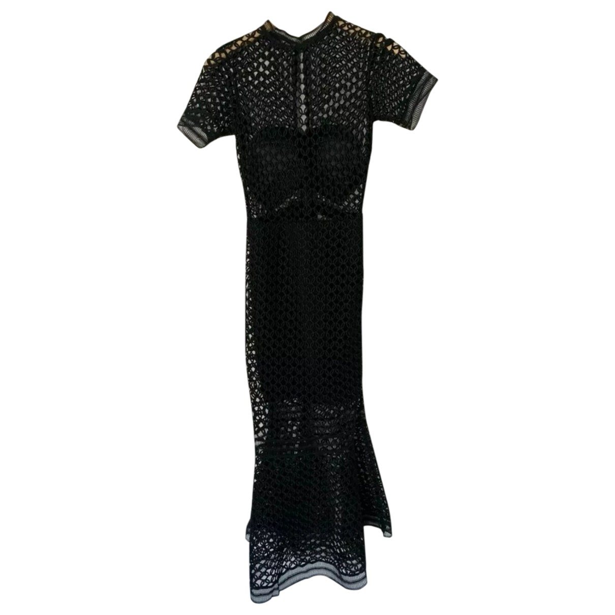Self Portrait \N Black Cotton dress for Women 8 UK