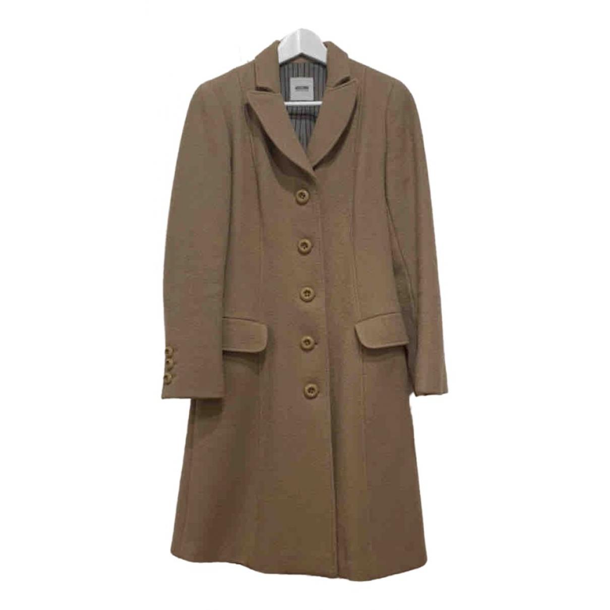 Moschino - Manteau   pour femme en laine - camel