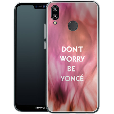 Huawei P20 Lite Silikon Handyhuelle - Dont Worry Be Yonce von Statements