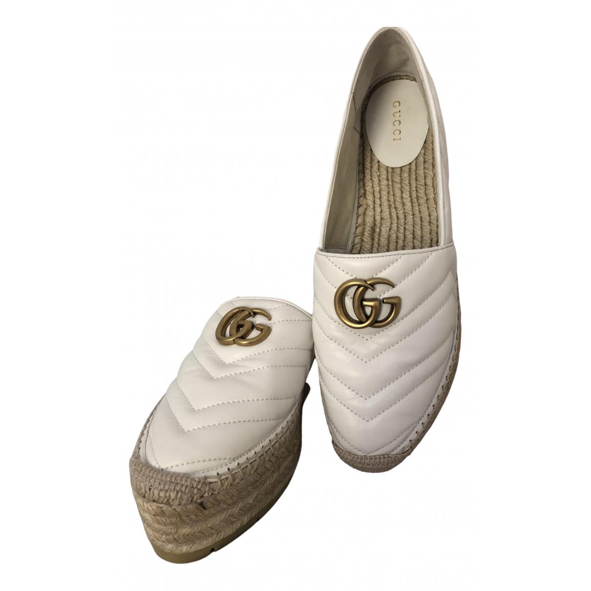 Gucci \N Espadrilles in  Weiss Leder