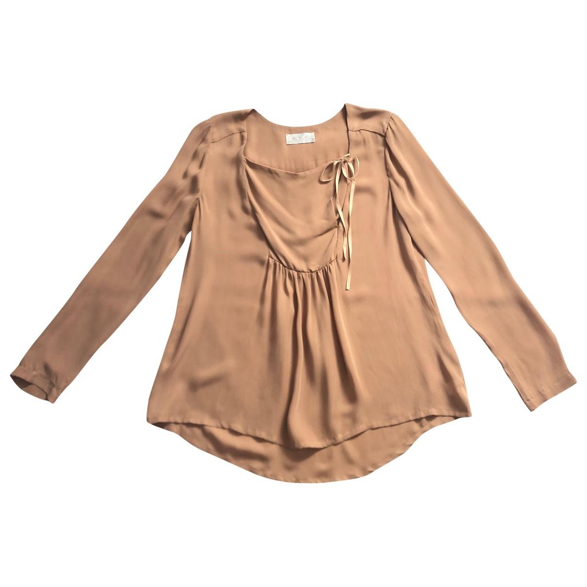 A.l.c \N Camel Silk  top for Women M International