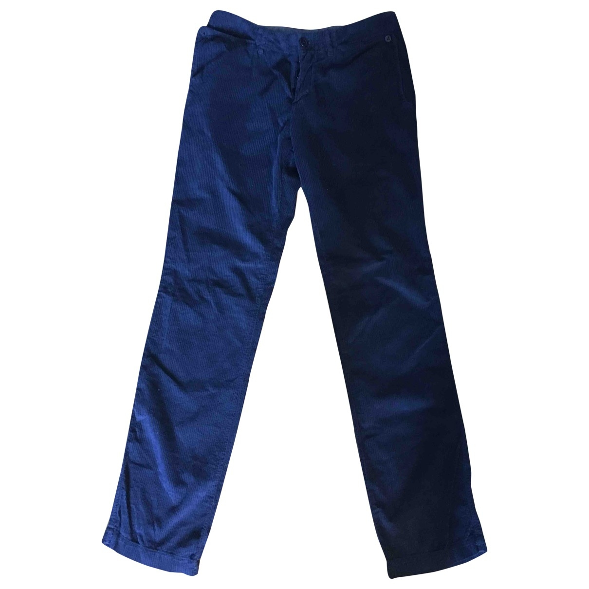 Yohji Yamamoto - Pantalon   pour femme en velours - bleu