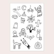 Tattoo Aufkleber mit Halloween Element Muster 1 Blatt