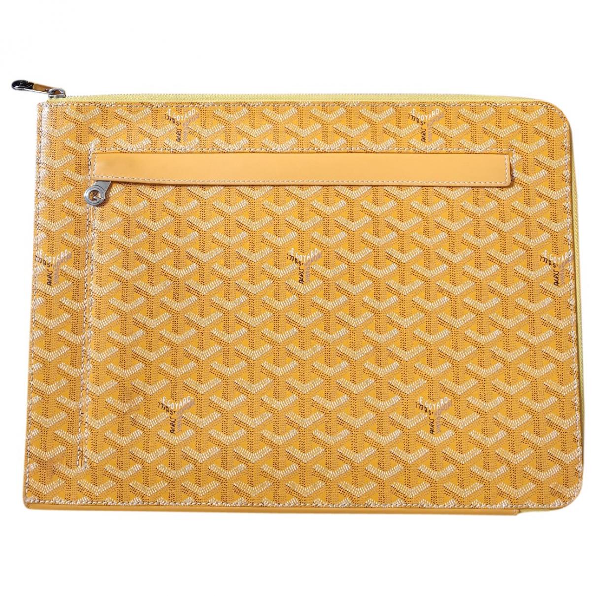 Goyard \N Yellow Cloth bag for Men \N