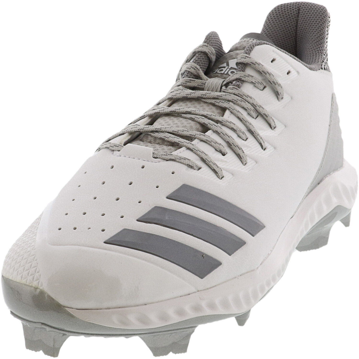 Adidas Men's Icon Bounce Tpu Footwear White / Grey Three Two Low Top Leather Baseball - 14M