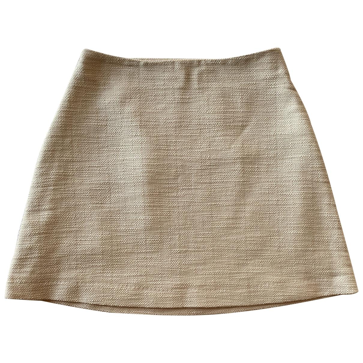 Tory Burch - Jupe   pour femme en coton - beige
