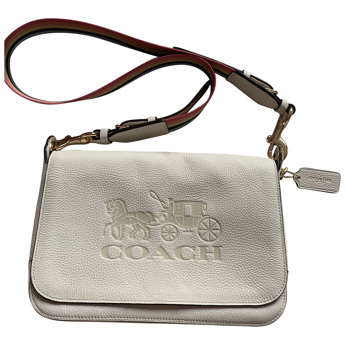 Coach - Sac a main Smooth Crossbody  pour femme en cuir - blanc