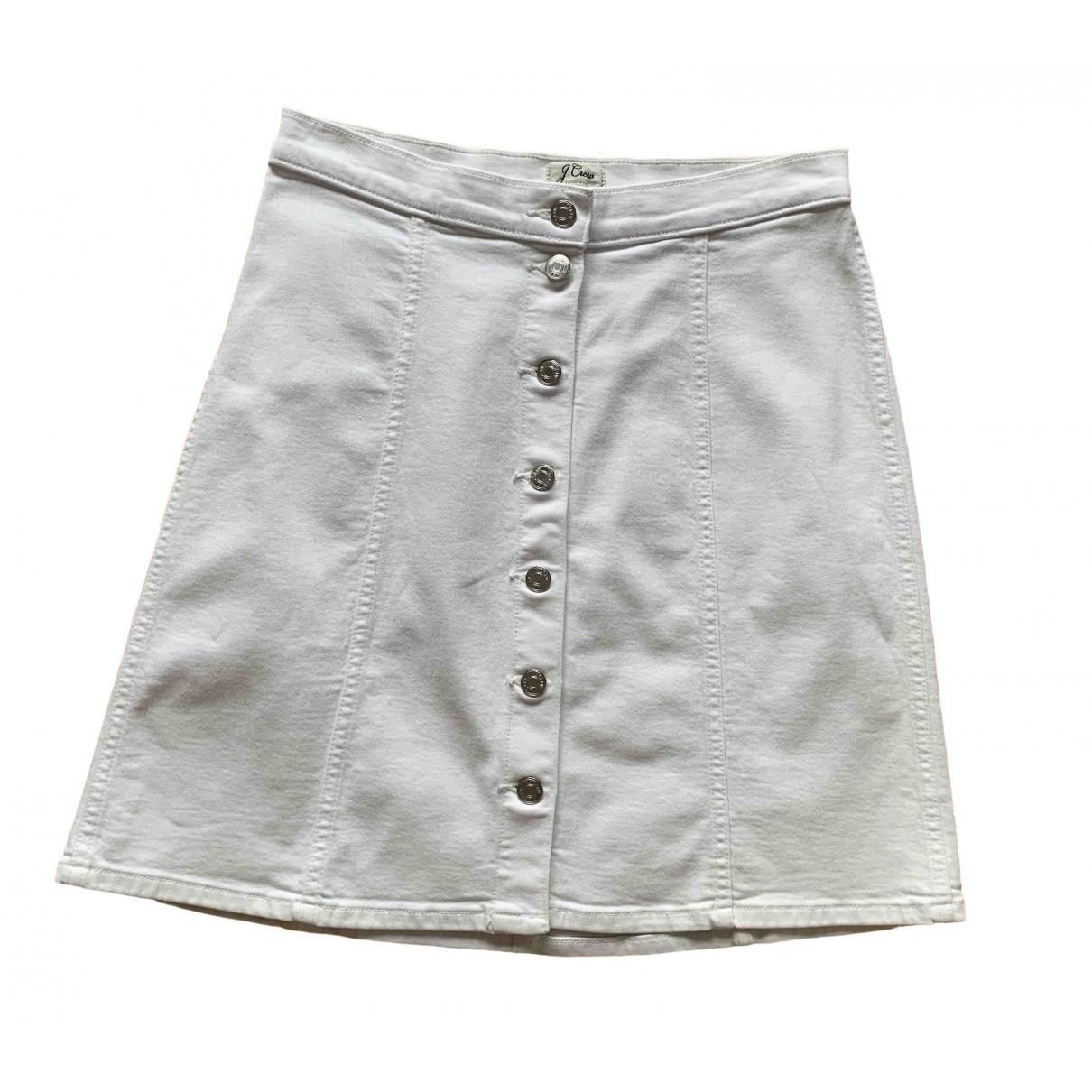 J.crew \N White Cotton - elasthane skirt for Women 38 FR