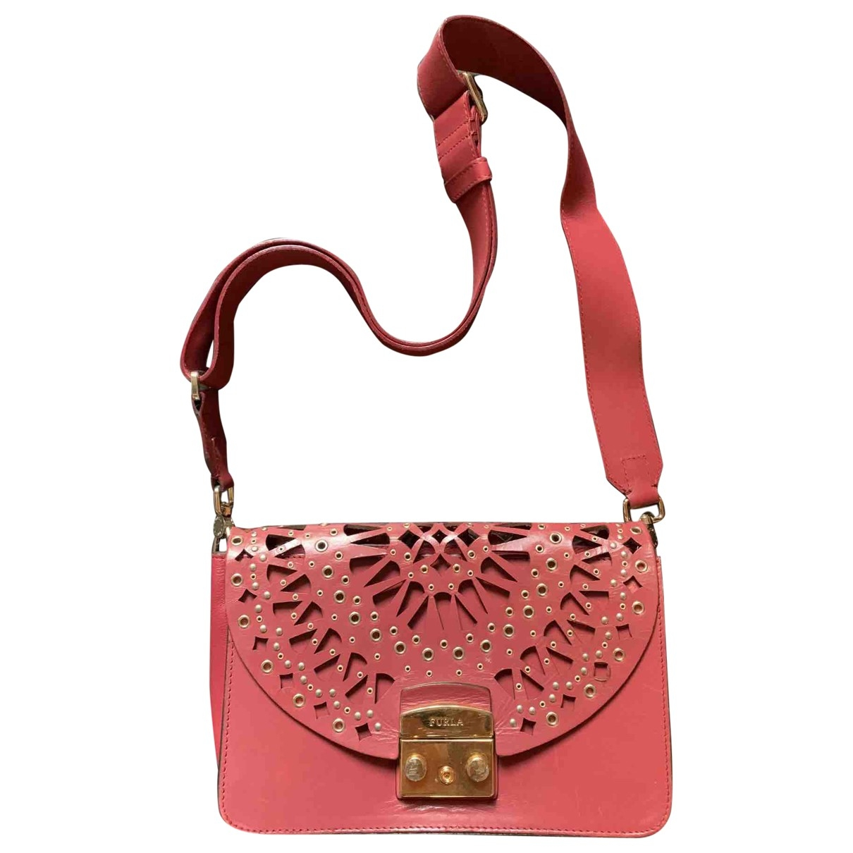 Furla Metropolis Red Leather handbag for Women \N