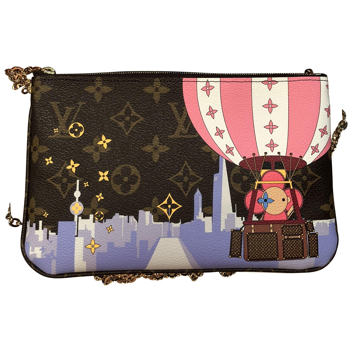 Louis Vuitton Double zip Handtasche in  Bunt Leinen
