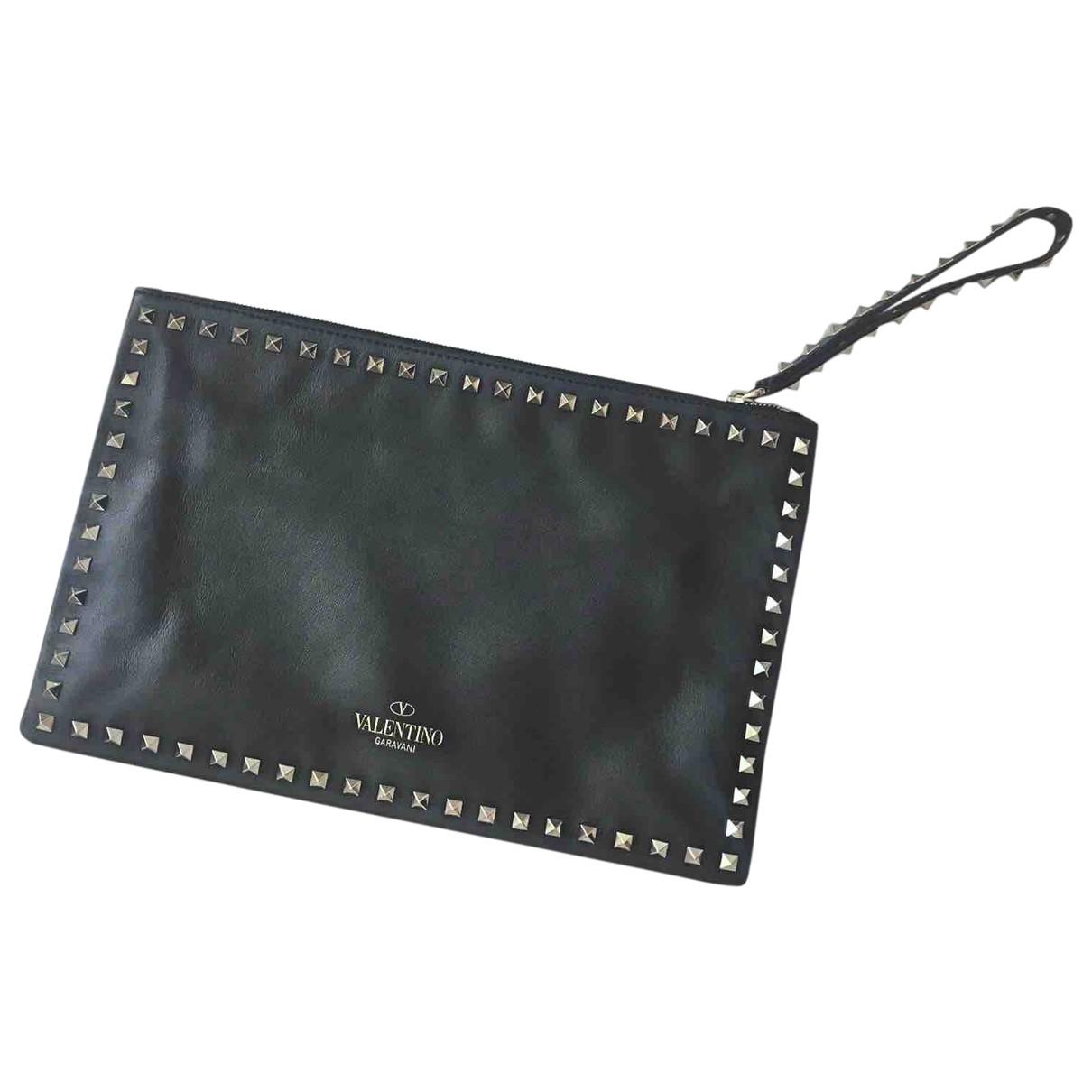 Valentino Garavani My Rockstud Black Leather Clutch bag for Women \N