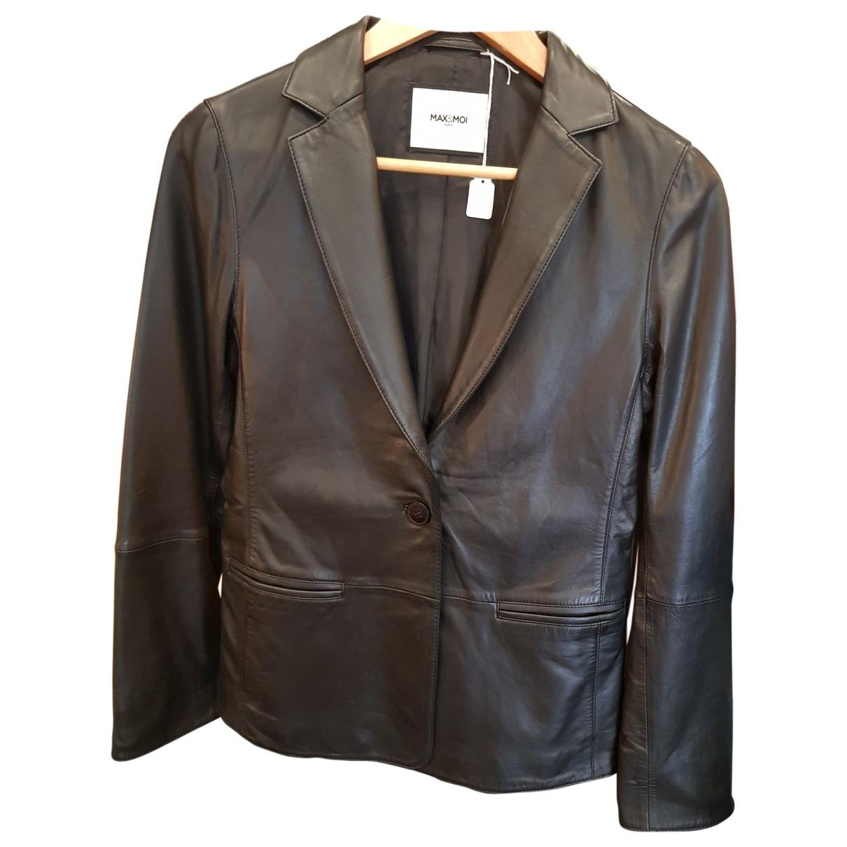 Max & Moi - Veste   pour femme en cuir - noir