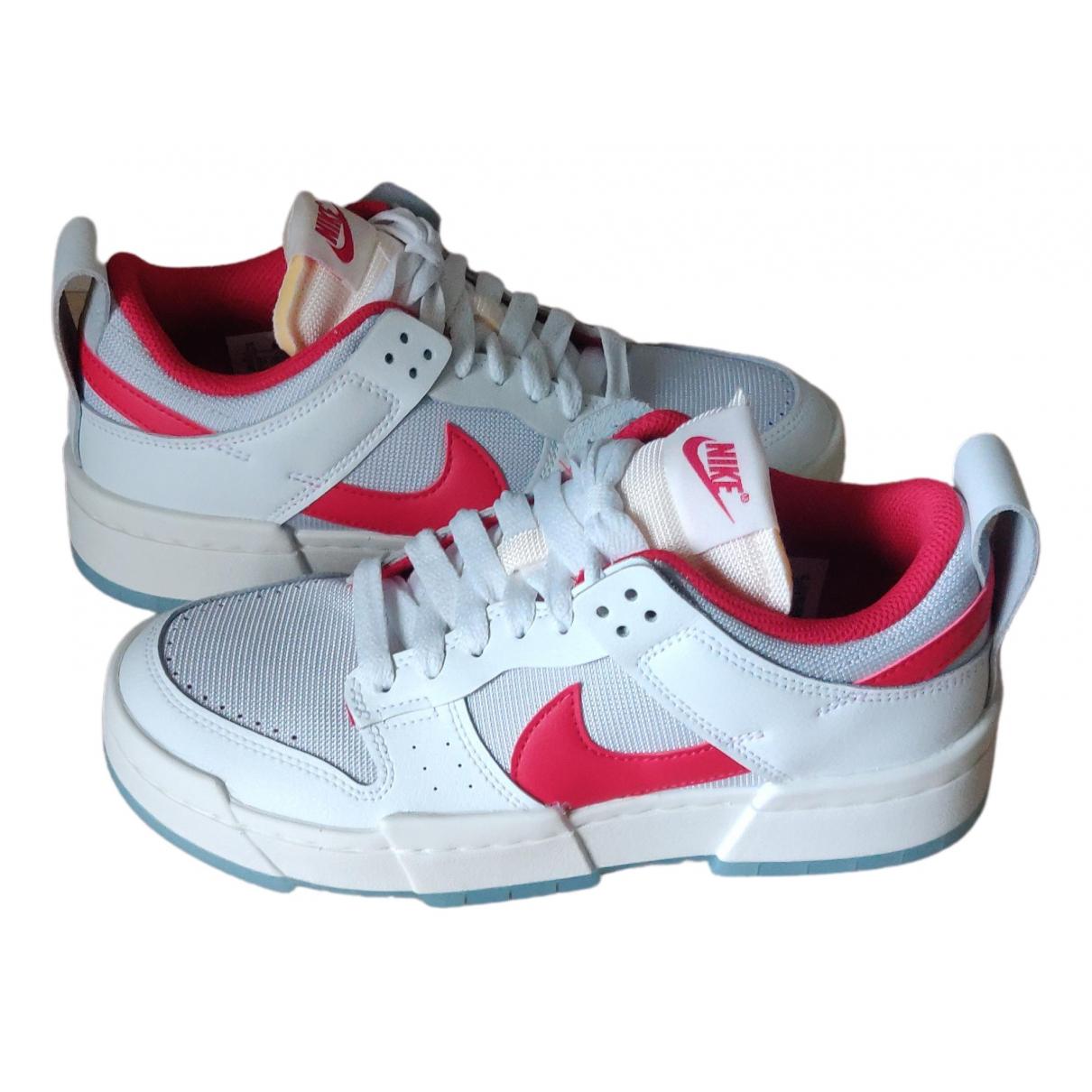 Nike - Baskets SB Dunk  pour femme en cuir - blanc
