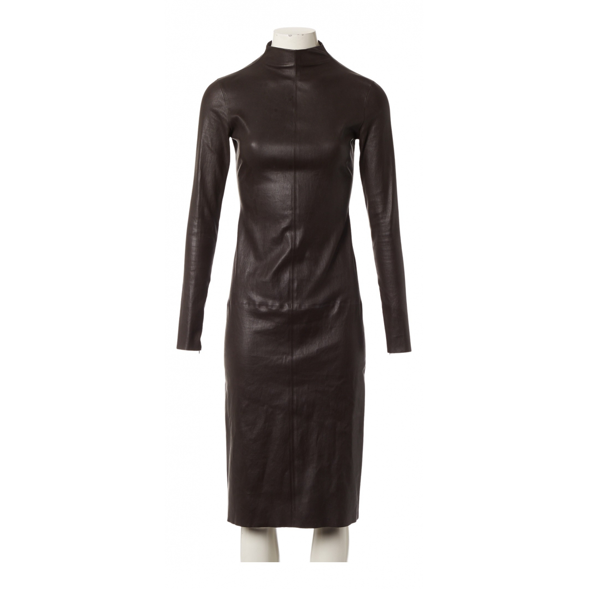 Bottega Veneta N Black Leather dress for Women 36 IT