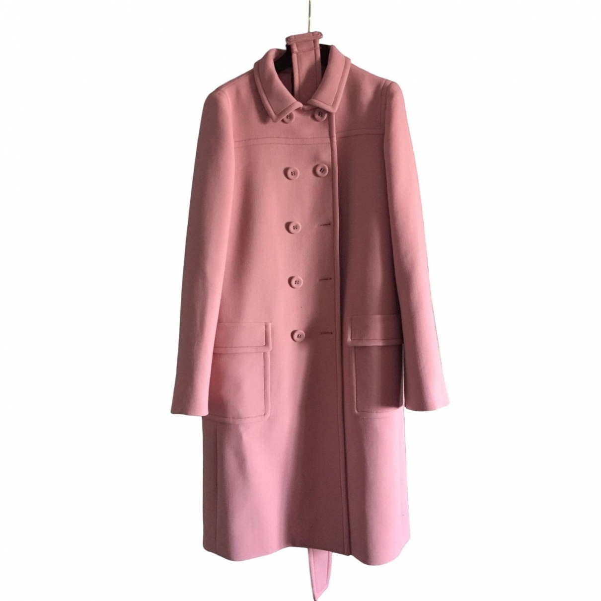 Bottega Veneta \N Pink Wool coat for Women 40 IT