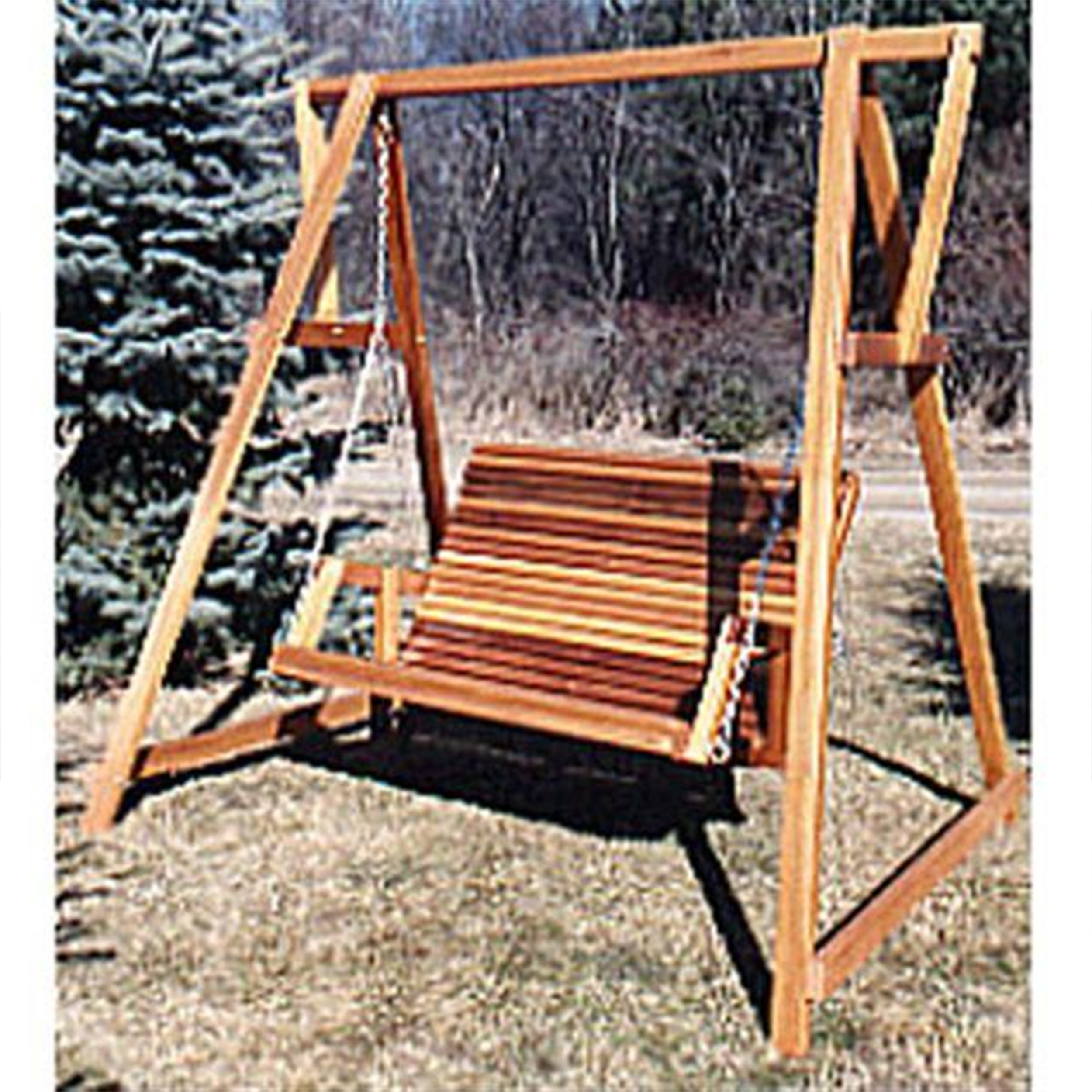 Woodworking Project Paper Plan to Build Patio Swing and Stand