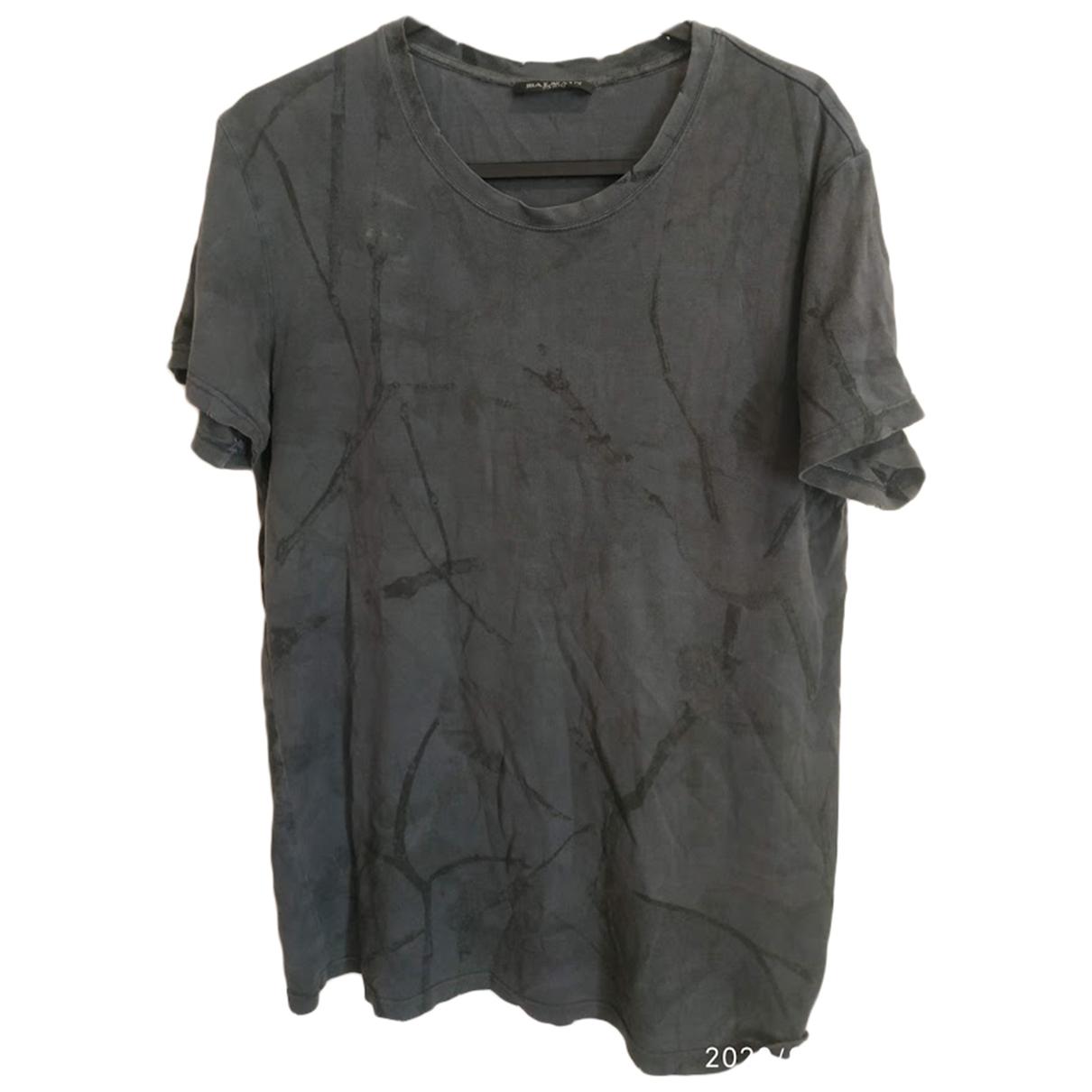 Balmain - Tee shirts   pour homme en coton - gris