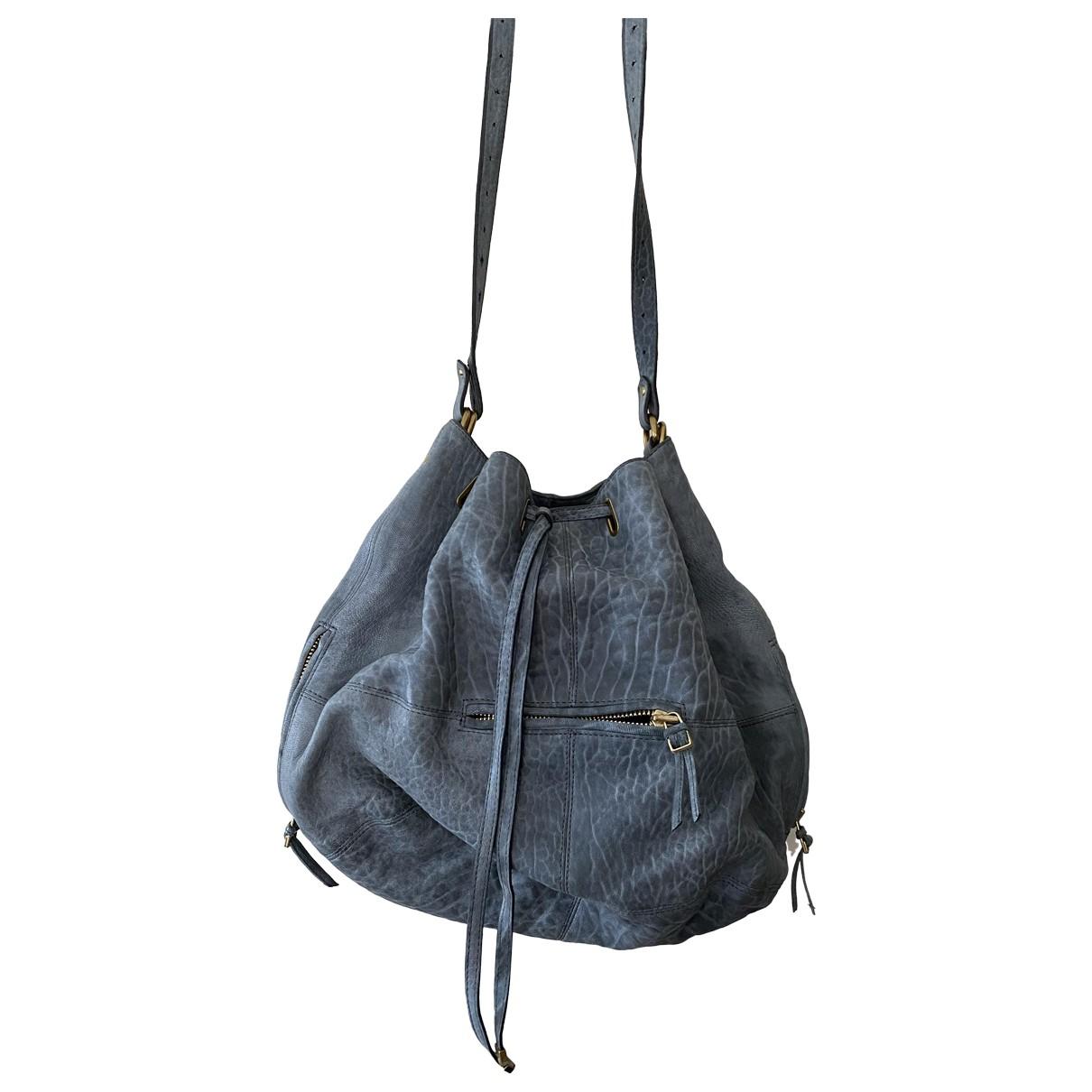 Jerome Dreyfuss Alain Blue Leather handbag for Women \N