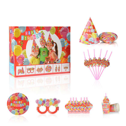 Balloon Design Kit de fournitures de fête d'anniversaire pour 6 invités, 36pcs - LIVINGbasics™