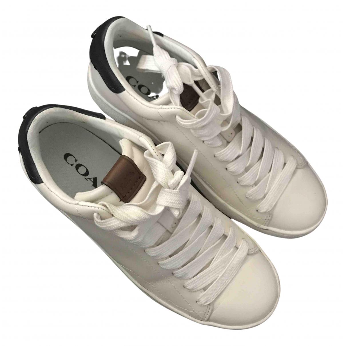 Coach \N Sneakers in  Weiss Leder