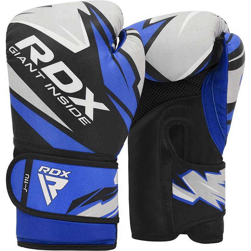 RDX J11 Kinder Boxhandschuhe Kunstleder 6oz Blau