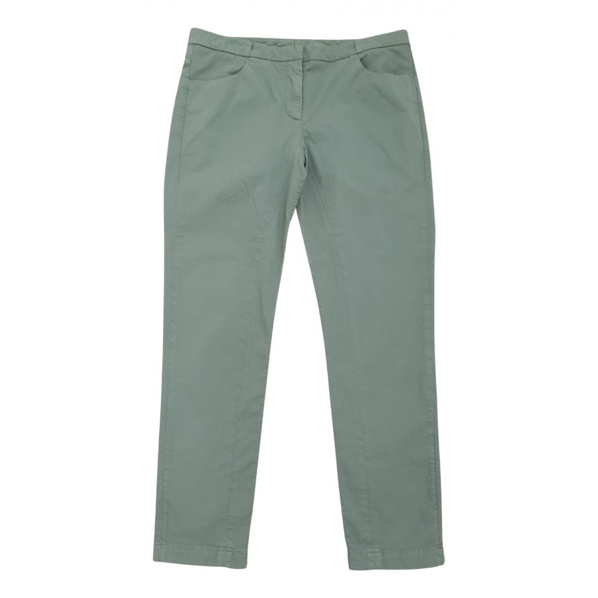 Brunello Cucinelli N Green Cotton Trousers for Women 40 FR