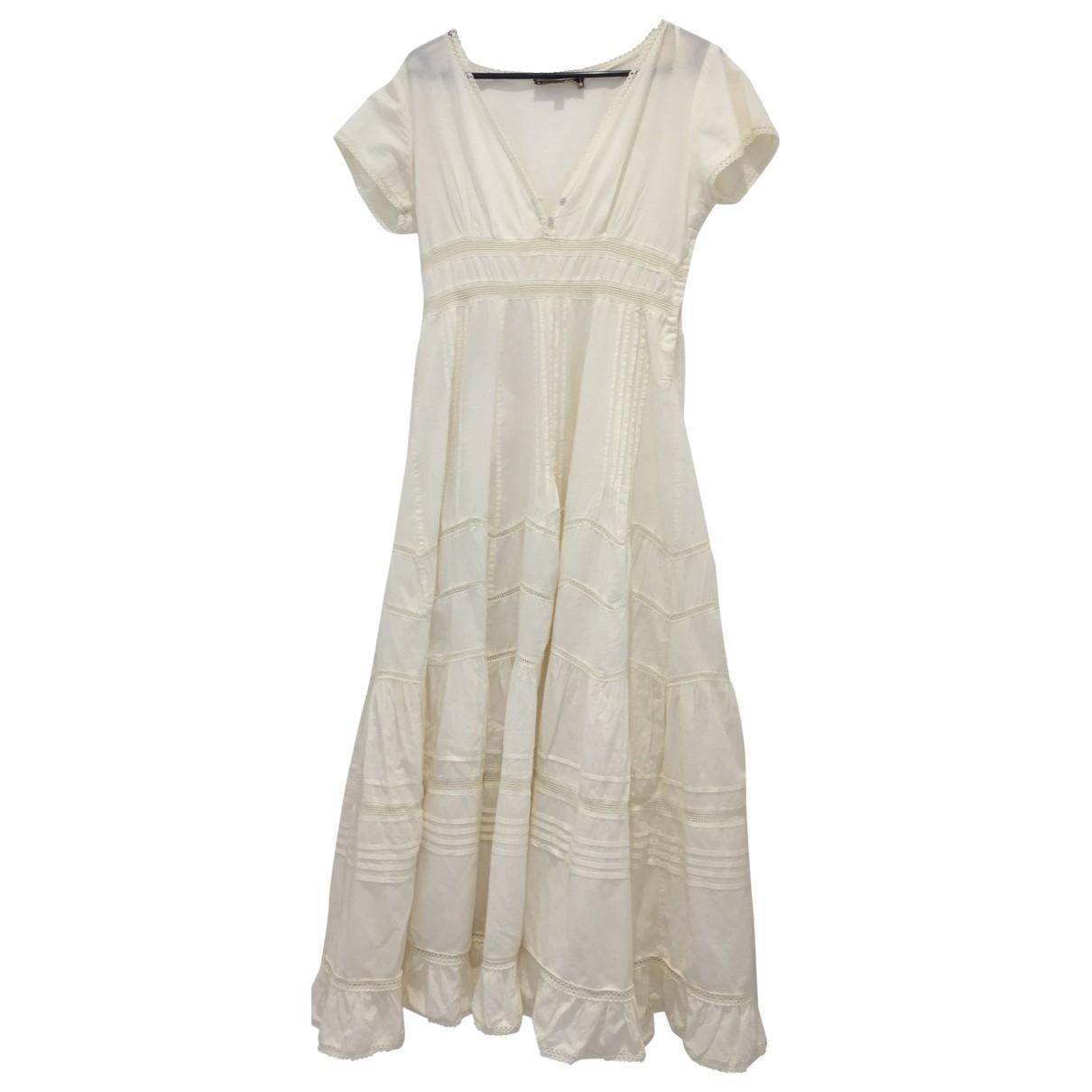 Non Signe / Unsigned \N Kleid in  Ecru Baumwolle