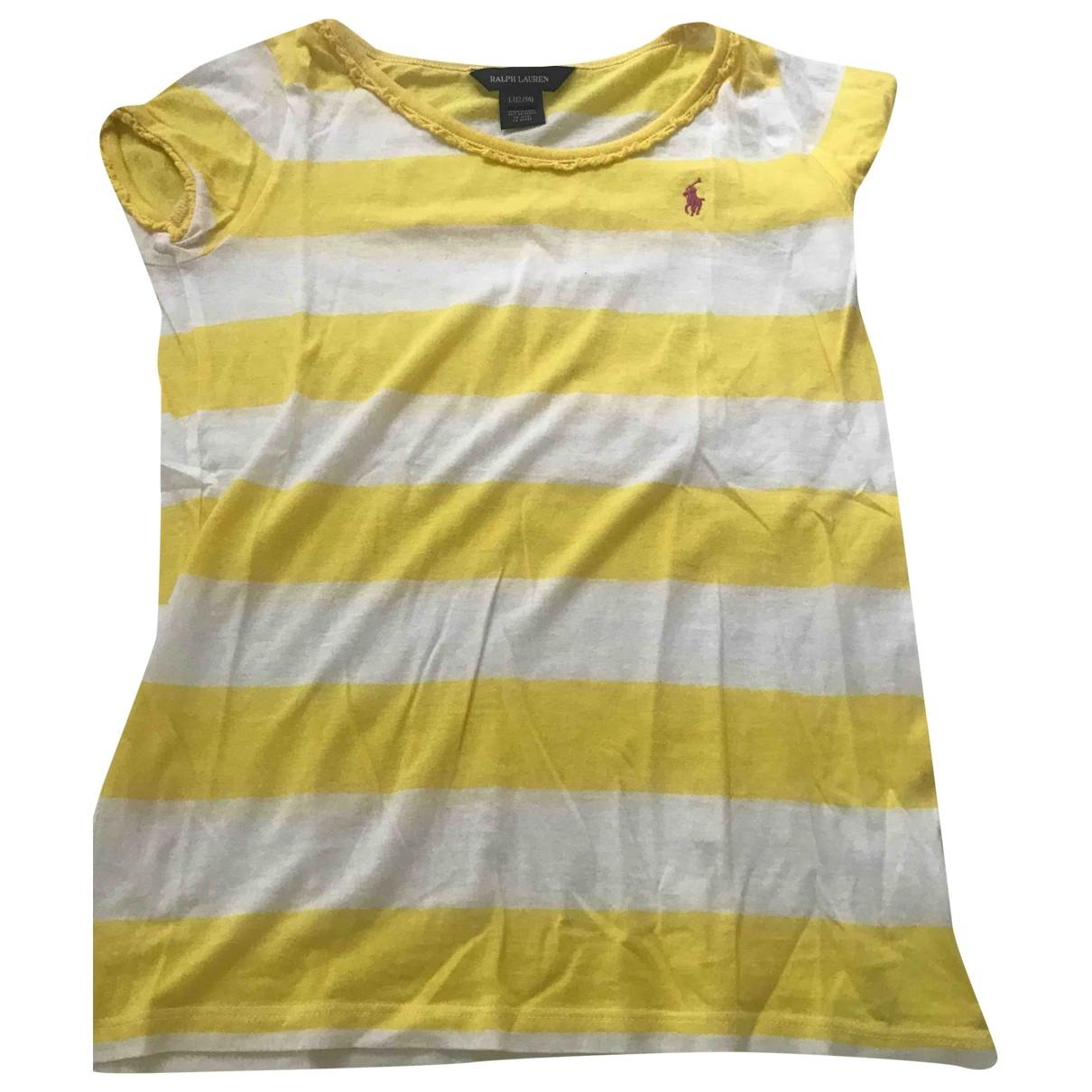 Ralph Lauren - Top   pour enfant en coton - jaune