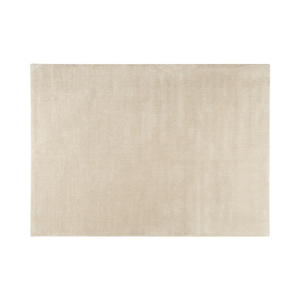Kurzflorteppich SOFT aus Wolle, 160 x 230cm, beige