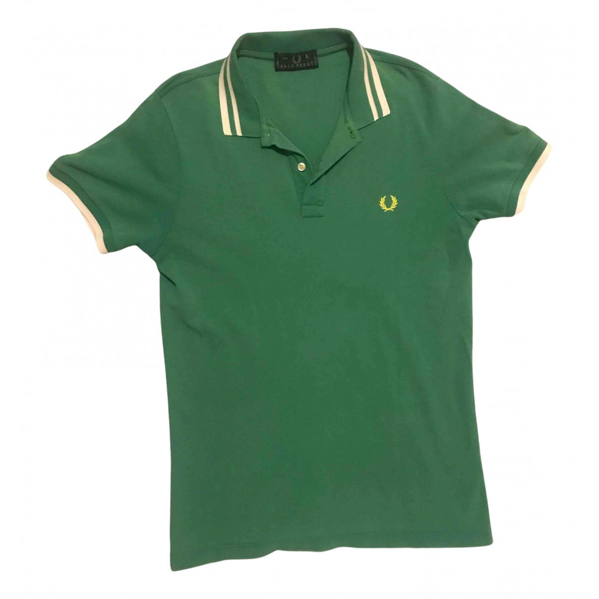 Fred Perry \N Poloshirts in  Gruen Baumwolle