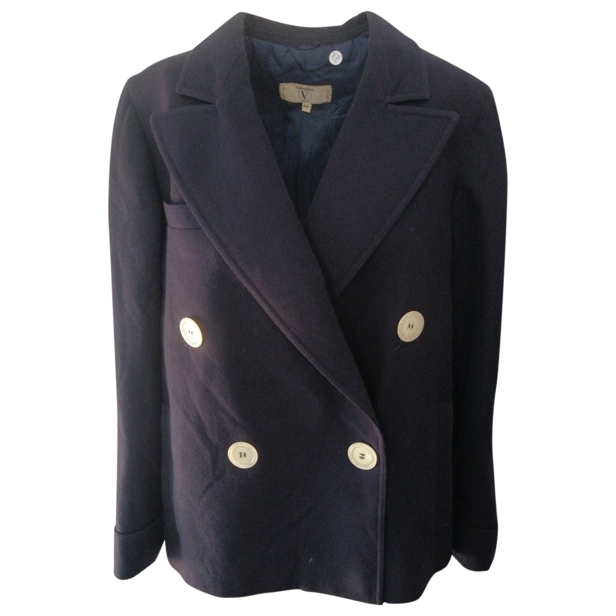 Valentino Garavani \N Jacke in  Blau Wolle