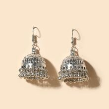 Bell Round Ball Tassel Drop Jhumka Earrings