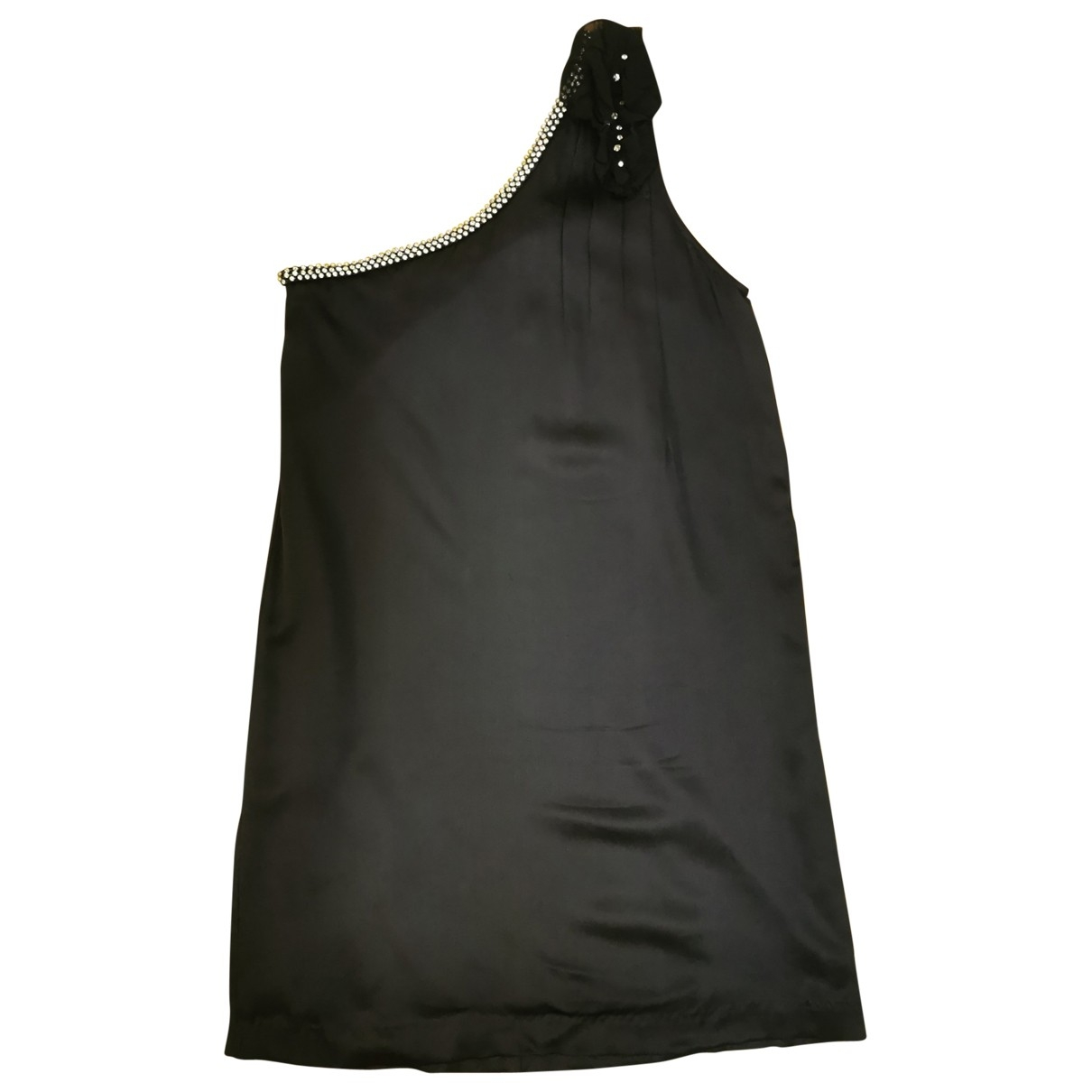 Maje - Robe   pour femme en soie - marine