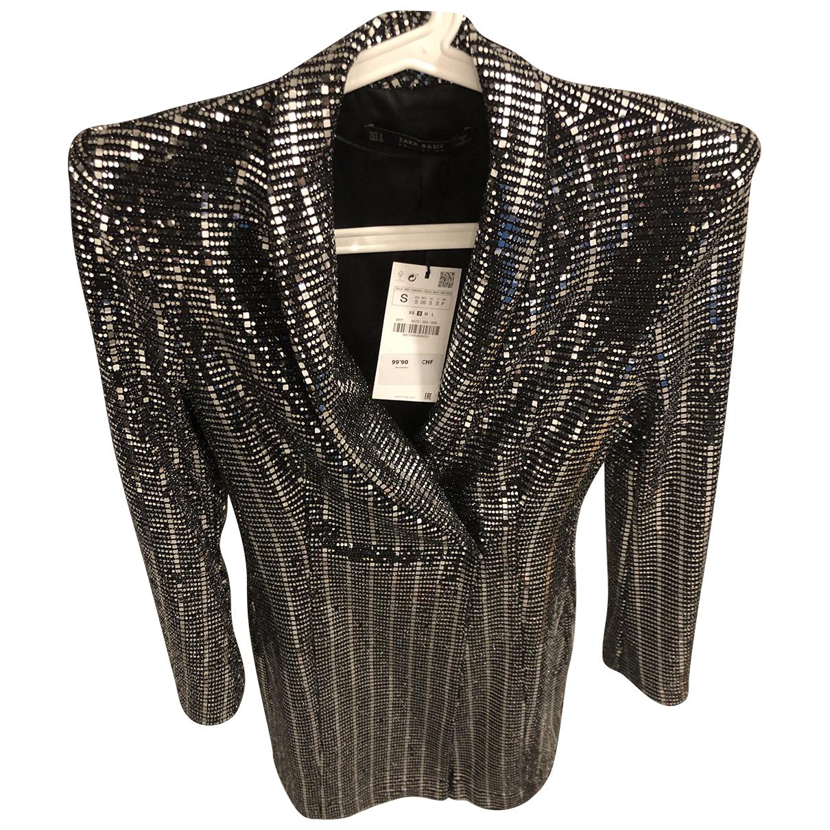 Zara \N Jacke in  Silber Synthetik