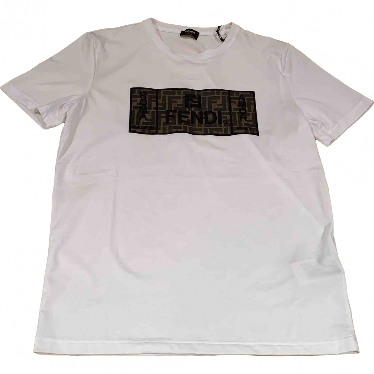 Fendi \N White Cotton T-shirts for Men M International