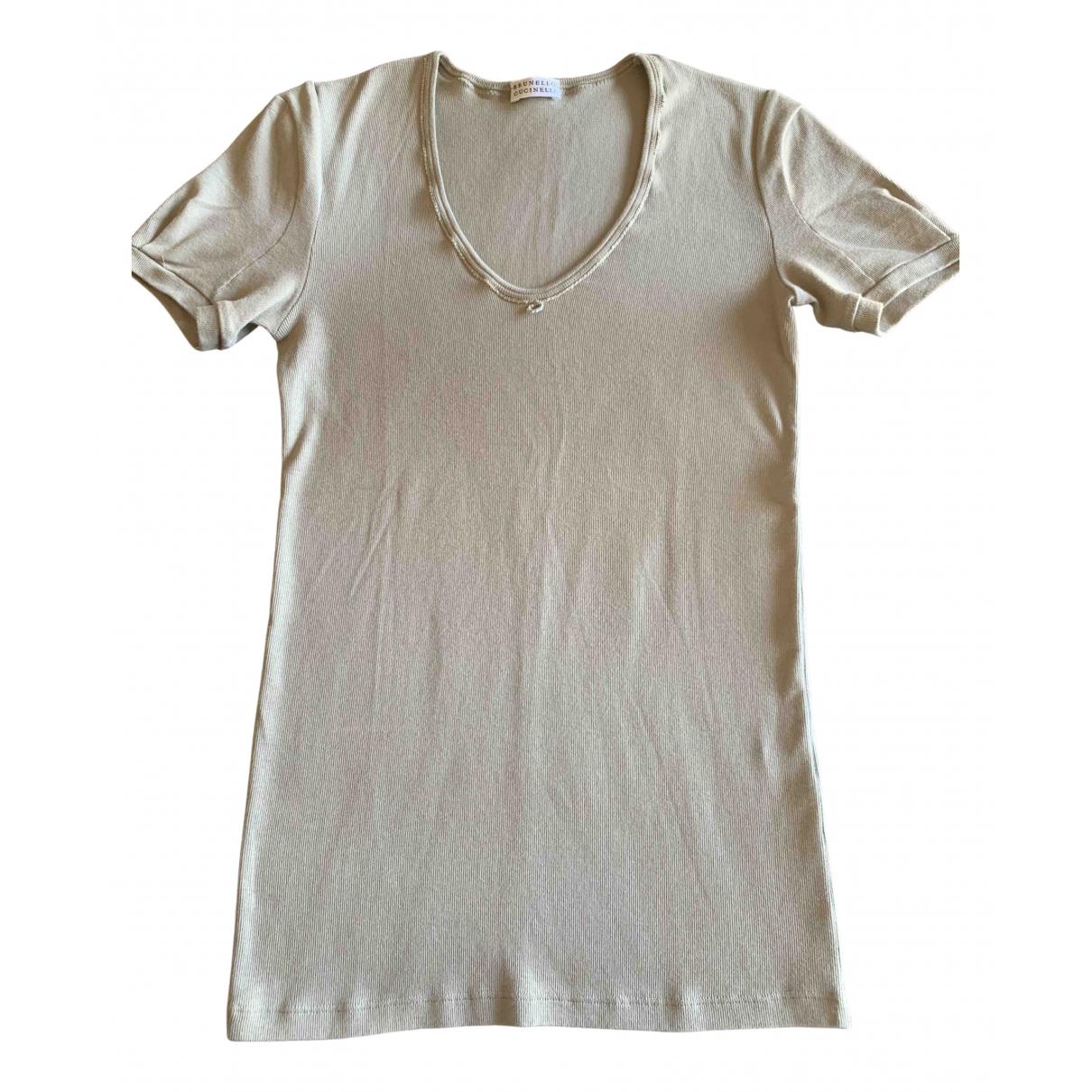 Brunello Cucinelli N Beige Cotton  top for Women M International