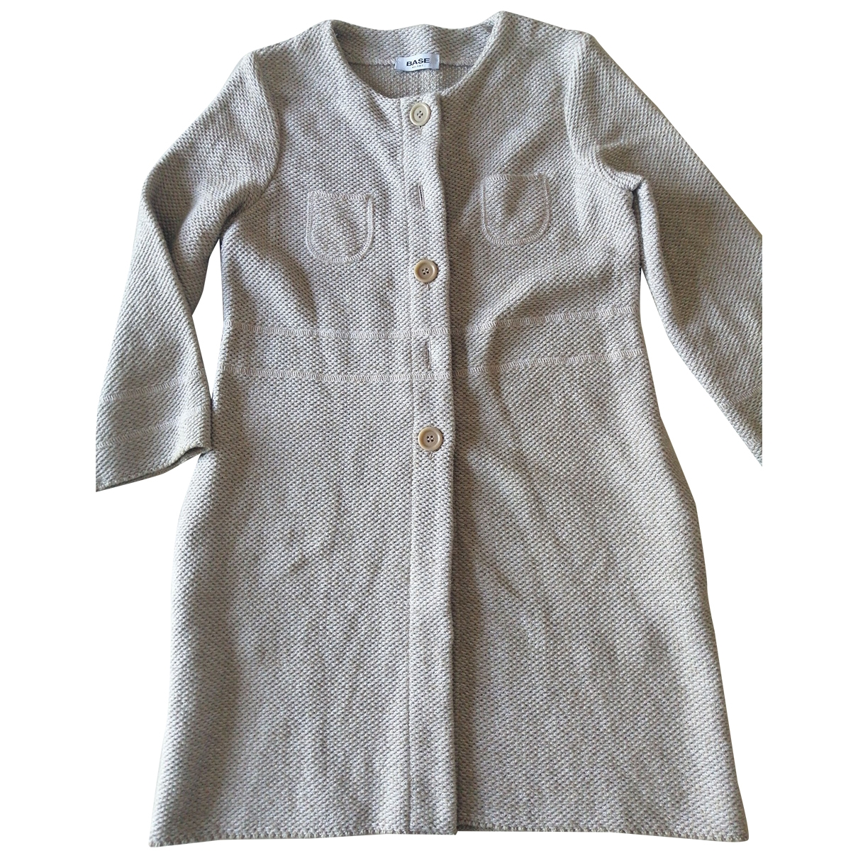 Non Signé / Unsigned \N Ecru Cotton jacket for Women 40 IT