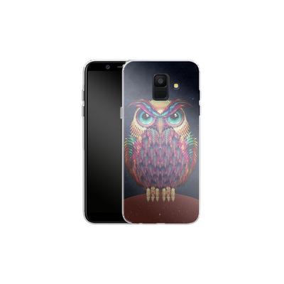 Samsung Galaxy A6 Silikon Handyhuelle - Owl von Ali Gulec