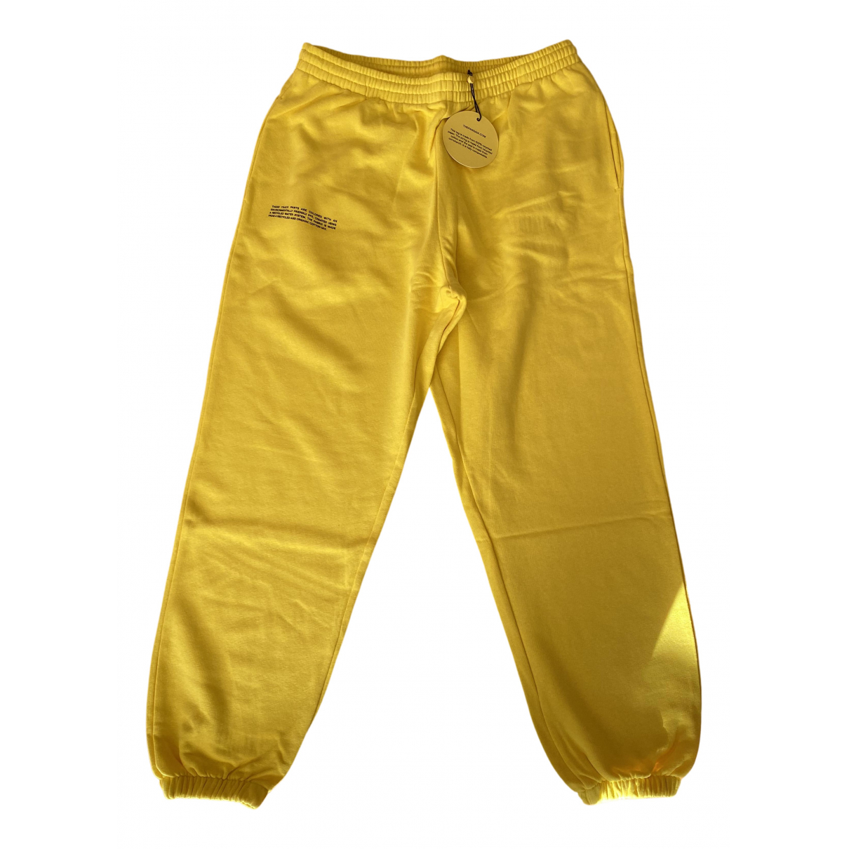 The Pangaia \N Yellow Cotton Trousers for Women L International