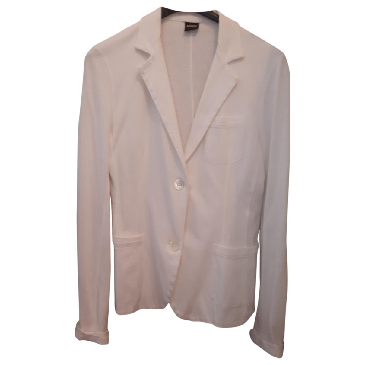 Aspesi - Veste   pour femme en coton - blanc