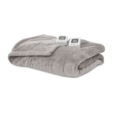 SensorPEDIC Warming Heated Blanket, One Size , Gray