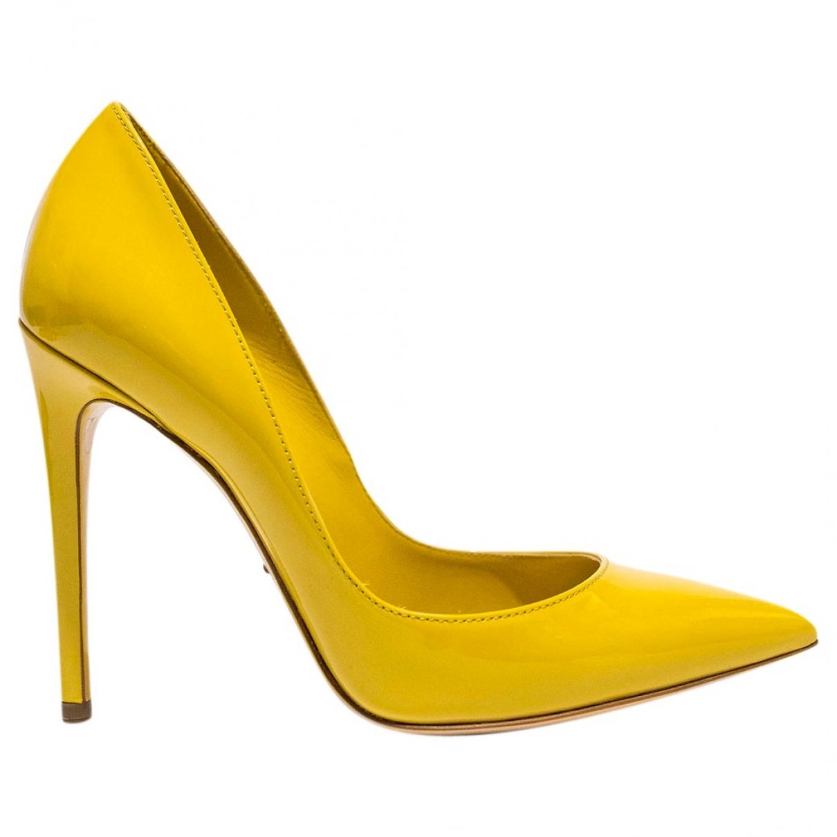Dolce & Gabbana - Escarpins   pour femme en cuir verni - jaune