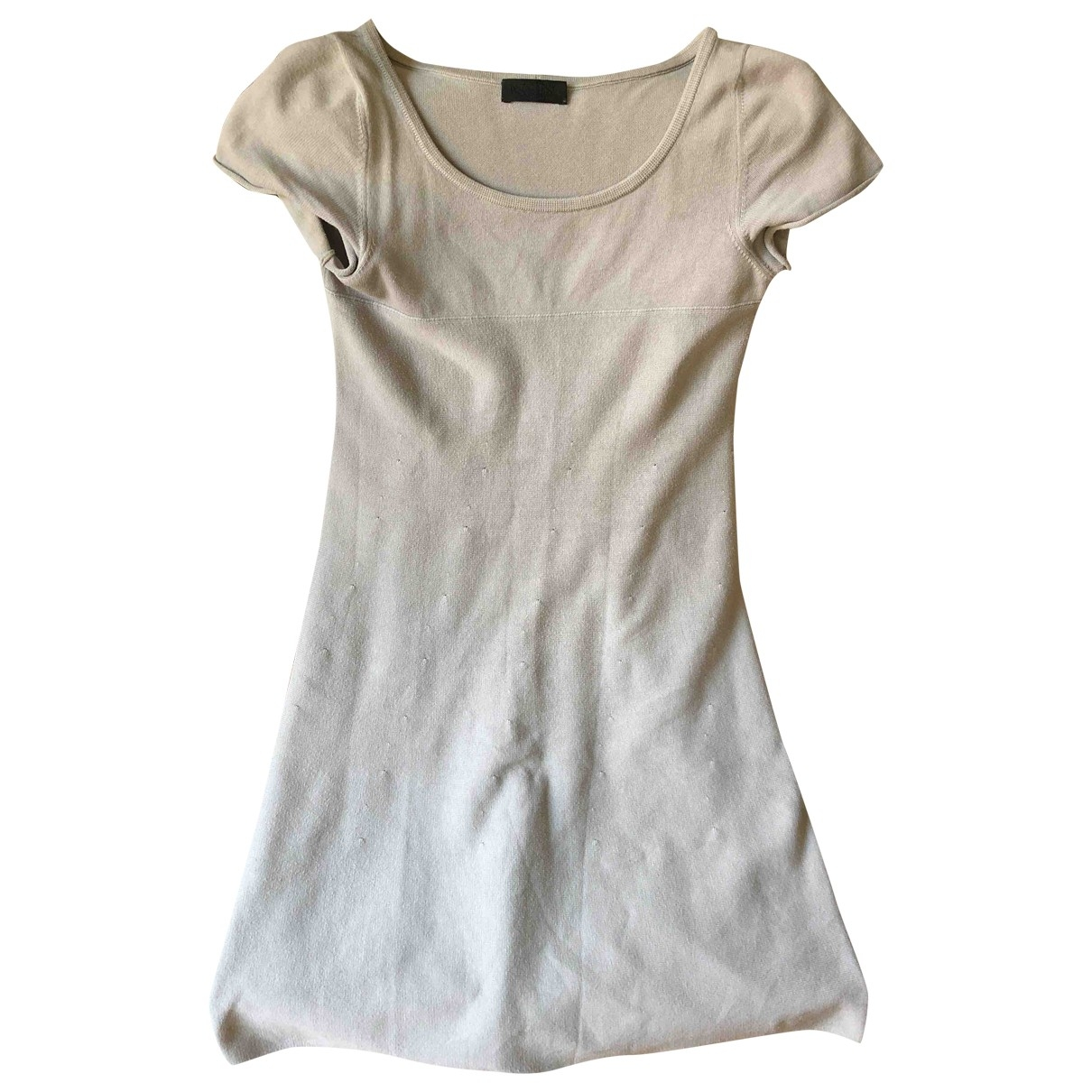 Non Signé / Unsigned \N Grey Cotton dress for Women 38 IT