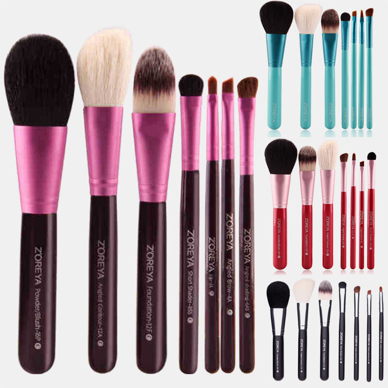 Face Makeup Brush Set Artificial Fiber Concealer Brush Eyeshadow Brush Lip Brush Loose Powder Brush