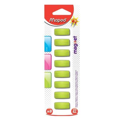 Maped@ Rectangular Magnets, 27 mm, 8/Pack 164194