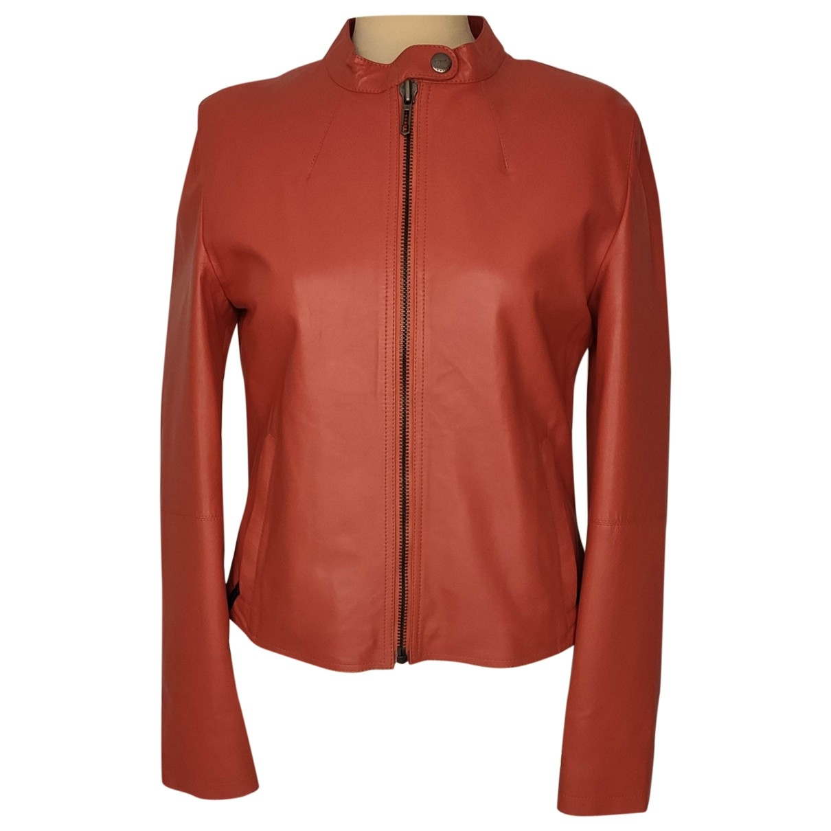 Cnc \N Red Leather jacket for Women 42 IT