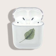 Leaf Print Airpods Case