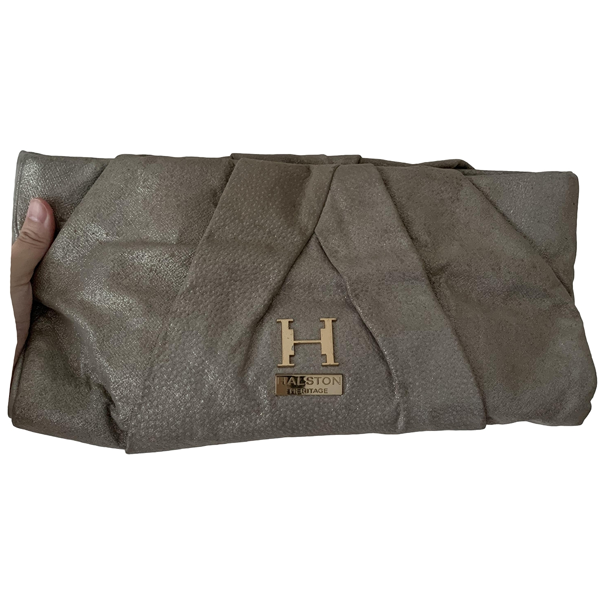 Halston Heritage \N Gold Leather Clutch bag for Women \N