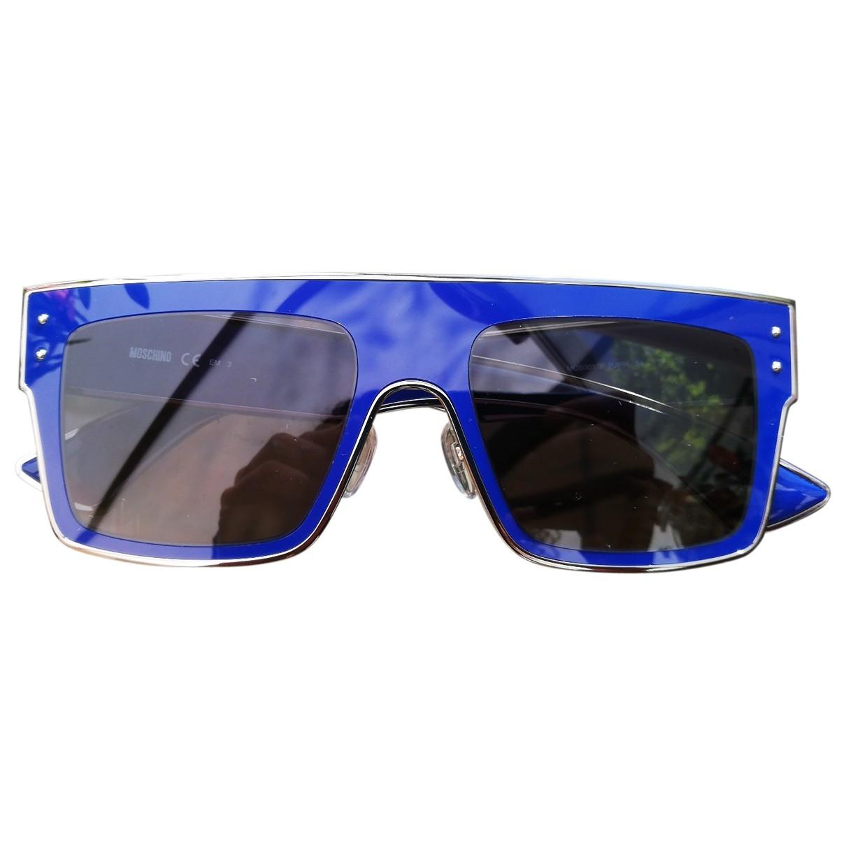 Moschino - Lunettes   pour femme en metal - bleu