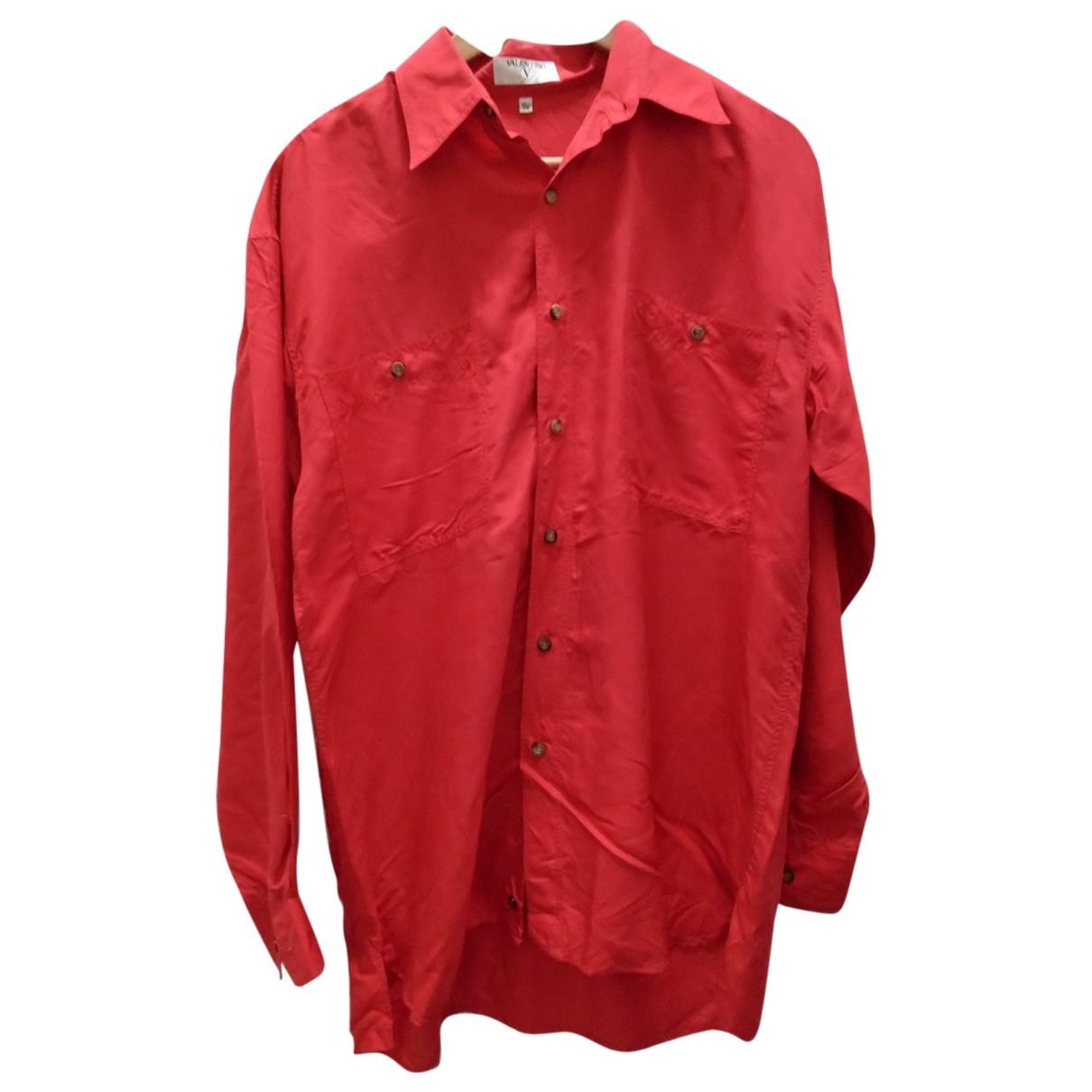 Valentino Garavani \N Red Silk Shirts for Men XL International